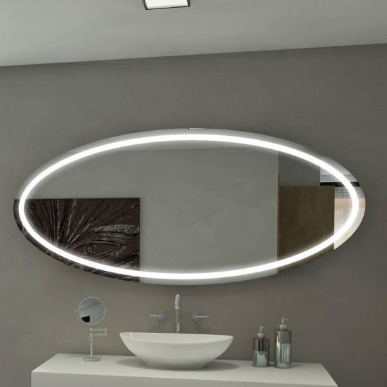 Овальное настенное зеркало со светодиодной LED-подсветкой Токио в интернет-магазине ROSESTAR фото