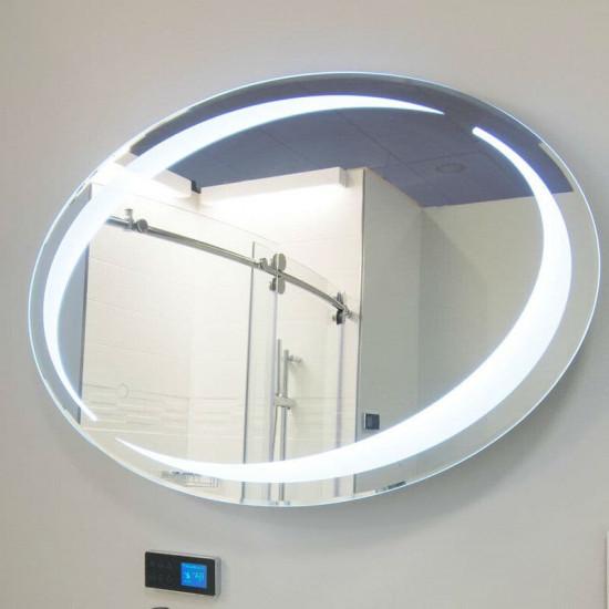 Овальное настенное зеркало со светодиодной LED-подсветкой Ванесса в интернет-магазине ROSESTAR фото