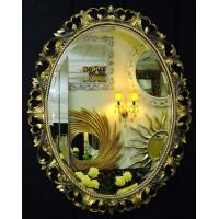 Овальное настенное зеркало в раме «Азалия» Бронза