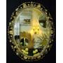 Овальное настенное зеркало в раме «Азалия» Бронза в интернет-магазине ROSESTAR фото