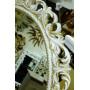 Овальное настенное зеркало в раме «Азалия» Слоновая кость с Золотом в интернет-магазине ROSESTAR фото 2