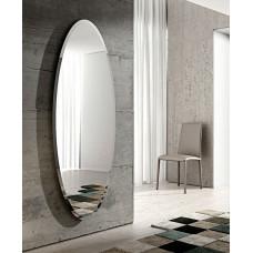 Большое овальное настенное зеркало в полный рост с фацетом Ионико