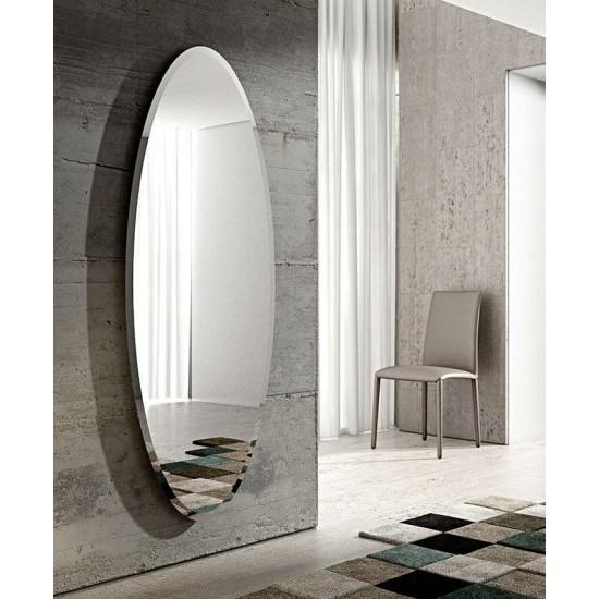 Большое овальное настенное зеркало в полный рост с фацетом Ионико в интернет-магазине ROSESTAR фото