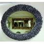 Овальное настенное зеркало в раме «Орнелла» Чернёное Серебро в интернет-магазине ROSESTAR фото 1