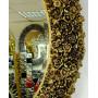 Овальное настенное зеркало в раме «Орнелла» Чернёное Золото в интернет-магазине ROSESTAR фото 1