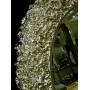 Овальное настенное зеркало в раме «Орнелла» Серебро Шампань в интернет-магазине ROSESTAR фото 1