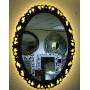 Овальное настенное зеркало в раме «Азалия» Слоновая кость с Золотом в интернет-магазине ROSESTAR фото 3