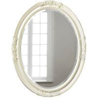 Овальное настенное зеркало в раме «Пацифик» Слоновая кость