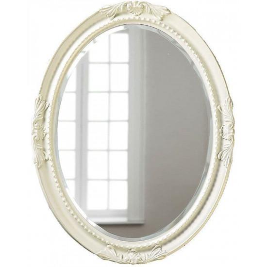 Овальное настенное зеркало в раме «Пацифик» Слоновая кость в интернет-магазине ROSESTAR фото