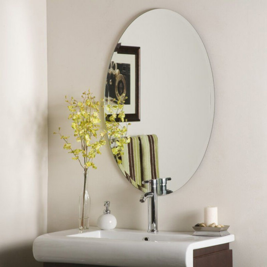 Овальное настенное зеркало с фацетом Ионико 2 в интернет-магазине ROSESTAR фото