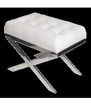 Банкетка металлическая Белая