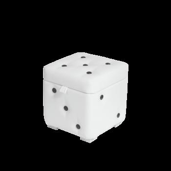 Пуфик-кубик Белый классический с ящиком 30х30х30 см