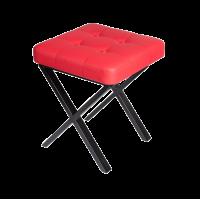 Банкетка металлическая Красная 40х40х45 см
