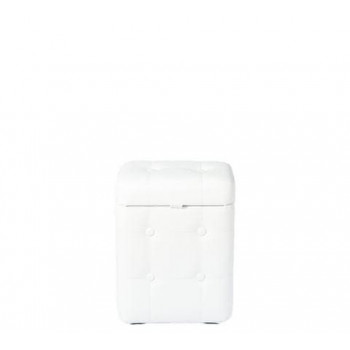 Пуфик Белый с ящиком 40х30х20 см