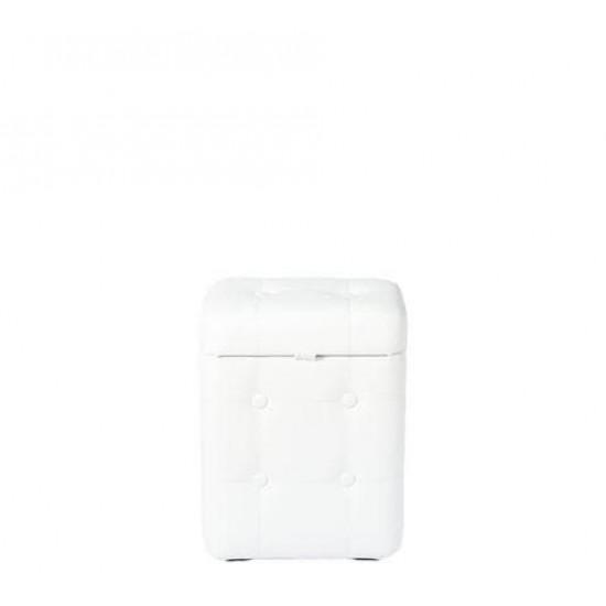 Пуфик Белый с ящиком 40х30х20 см в интернет-магазине ROSESTAR фото