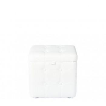 Пуфик Белый с ящиком 40х30х40 см