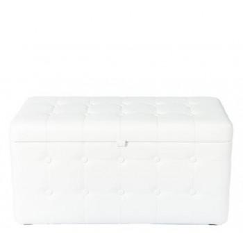 Банкетка Белая с ящиком 40х80х40 см