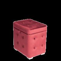 Пуфик Бордовый с ящиком 40х30х40 см