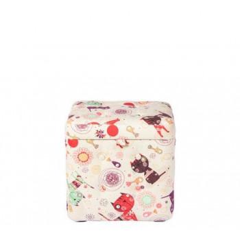 Пуфик с ящиком для хранения «Котики»