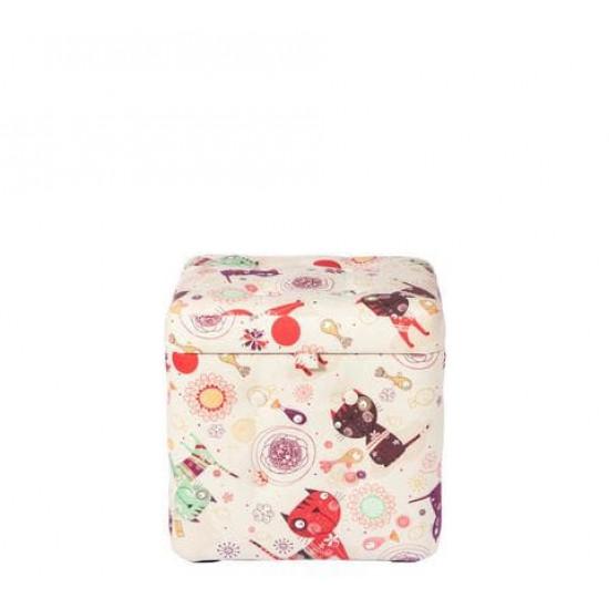 Пуфик с ящиком для хранения «Котики»  в интернет-магазине ROSESTAR фото