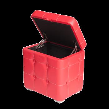 Пуфик Красный с ящиком 40х30х40 см