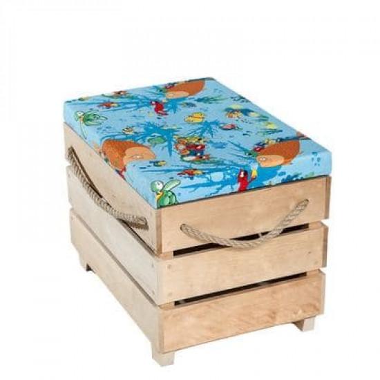 Ящик-пуфик детский «Рыбки»  в интернет-магазине ROSESTAR фото