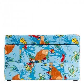 Пуфик детский с ящиком для хранения «Рыбки»