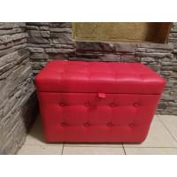 Банкетка Красная с ящиком 40х60х40 см