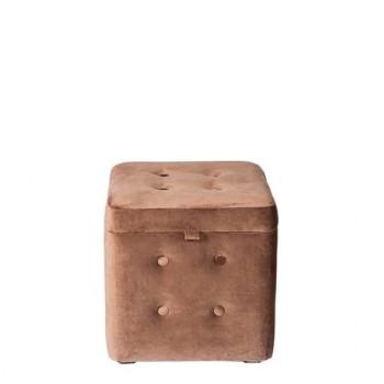 Пуфик Коричневый с ящиком 40х40х40 см
