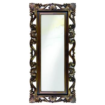 Зеркало напольное и настенное большое в полный рост в раме «Дэгни» Золотистый орех