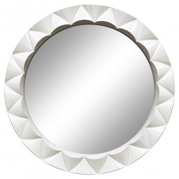 Круглое настенное зеркало в раме «Эрленд» Белый глянец