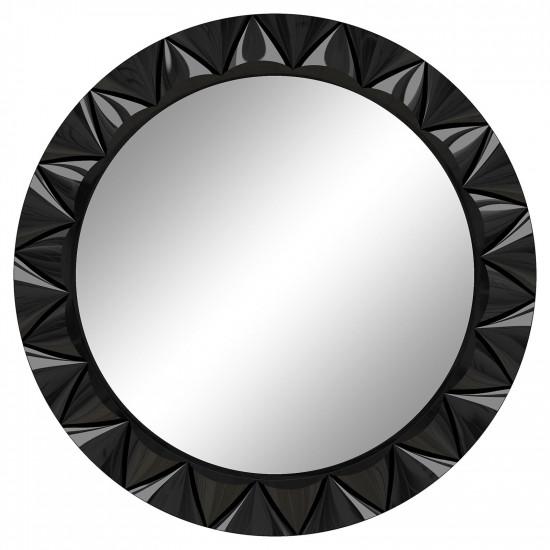 Круглое настенное зеркало в раме «Эрленд» Чёрный глянец в интернет-магазине ROSESTAR фото
