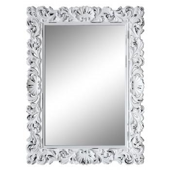 Зеркало настенное в белой раме «Арне» Белый/шебби шик