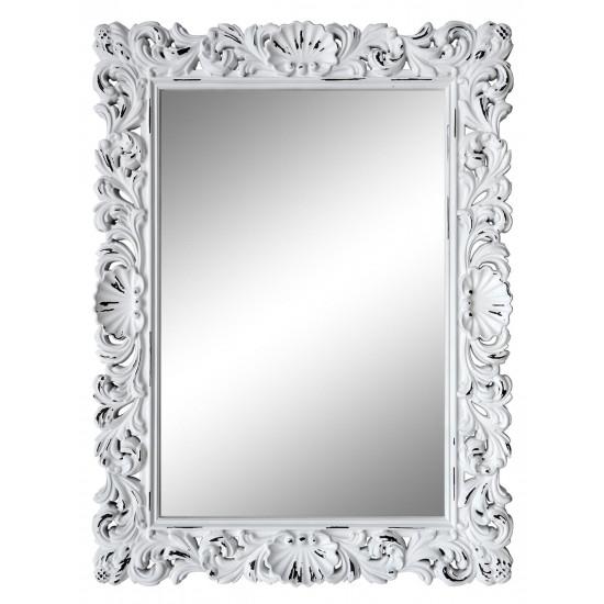 Зеркало настенное в белой раме «Арне» Белый/шебби шик в интернет-магазине ROSESTAR фото