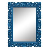 Зеркало настенное в синей раме «Арне» Синее
