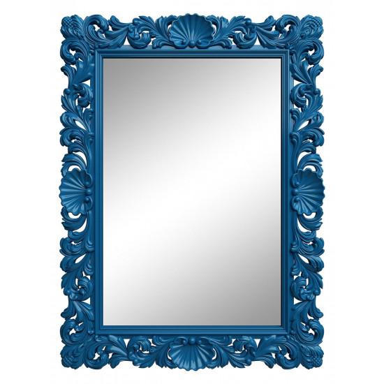 Зеркало настенное в синей раме «Арне» Синее в интернет-магазине ROSESTAR фото