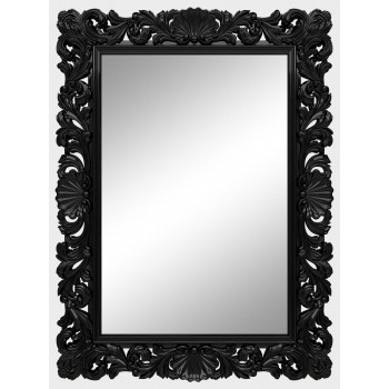 Зеркало настенное в чёрной раме «Арне» Чёрный глянец