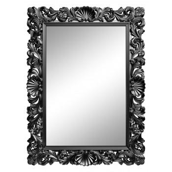 Зеркало настенное в серебряной раме «Арне» Серебро/патина титан