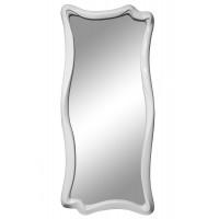 Зеркало настенное в фигурной раме «Марна» Белый глянец