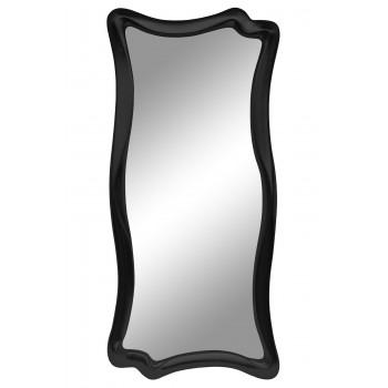 Зеркало настенное в фигурной раме «Марна» Чёрный глянец