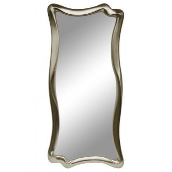 Зеркало настенное в фигурной раме «Марна» Серебро шампань