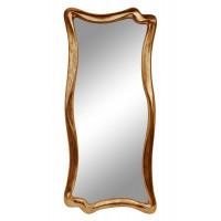 Зеркало настенное в фигурной раме «Марна» Золото состаренное поталь