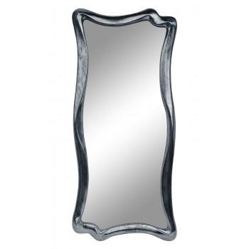 Зеркало настенное в фигурной раме «Марна» Серебро состаренное поталь/венге