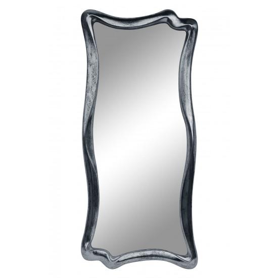 Зеркало настенное в фигурной раме «Марна» Серебро состаренное поталь/венге в интернет-магазине ROSESTAR фото