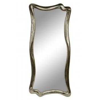Зеркало настенное в фигурной раме «Марна» Шампань состаренное поталь/венге