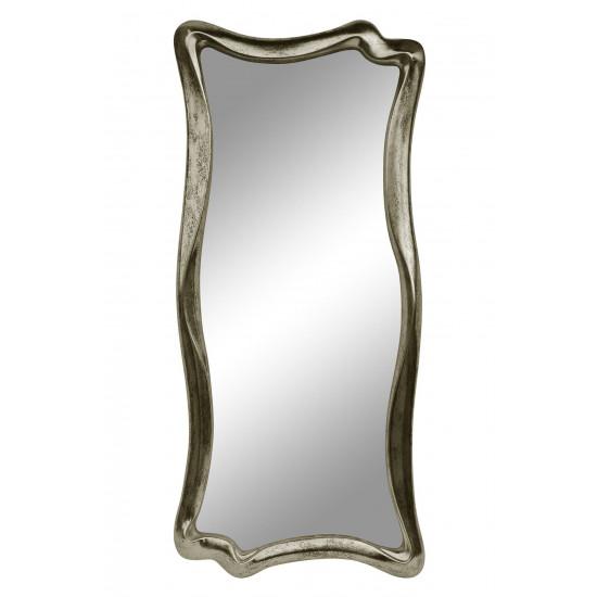 Зеркало настенное в фигурной раме «Марна» Шампань состаренное поталь/венге в интернет-магазине ROSESTAR фото