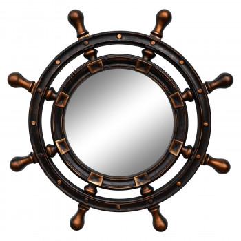 Зеркало-штурвал настенное «Бернт» Венге/золото