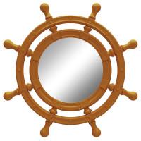 Зеркало-штурвал настенное «Бернт» Оранжевое