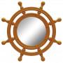 Зеркало-штурвал настенное «Бернт» Оранжевое в интернет-магазине ROSESTAR фото