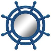 Зеркало-штурвал настенное «Бернт» Синее